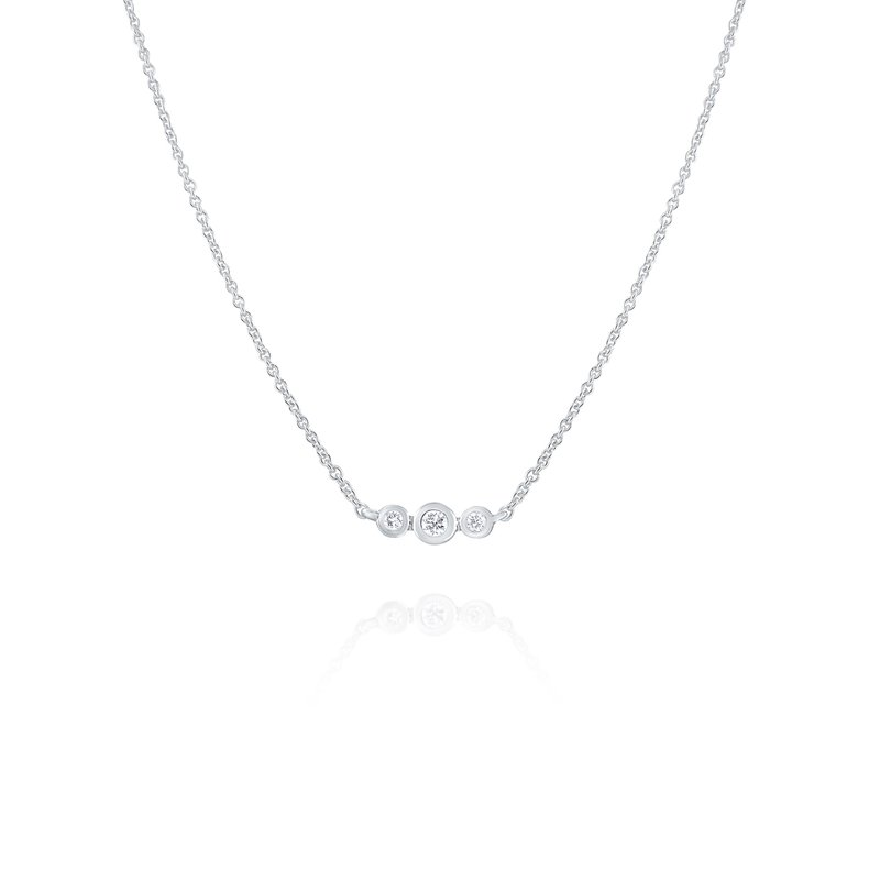 KC Designs Three Stone Diamond Necklace Set in 14 Kt. Gold