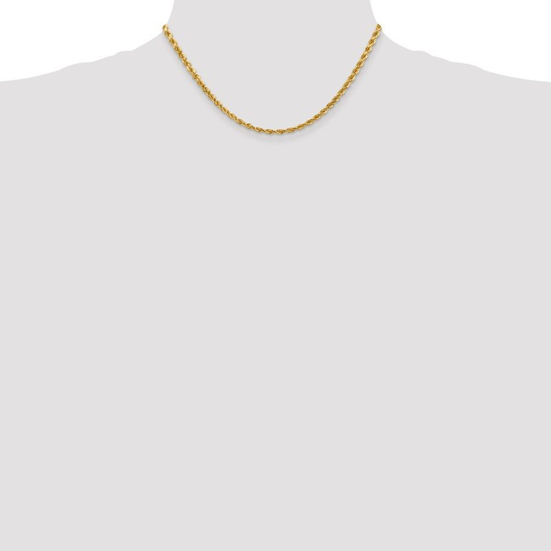 Quality Gold 14k 4mm D/C Rope with Lobster Clasp Chain