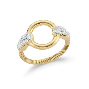 14K-Y WIRE RING 0.25CT
