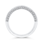 Carizza Round Half-Eternity Diamond Wedding Band In 14K White Gold