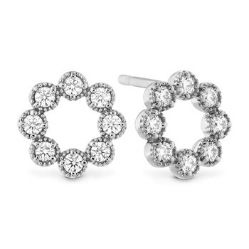 Liliana Milgrain Diamond Circle Earrings