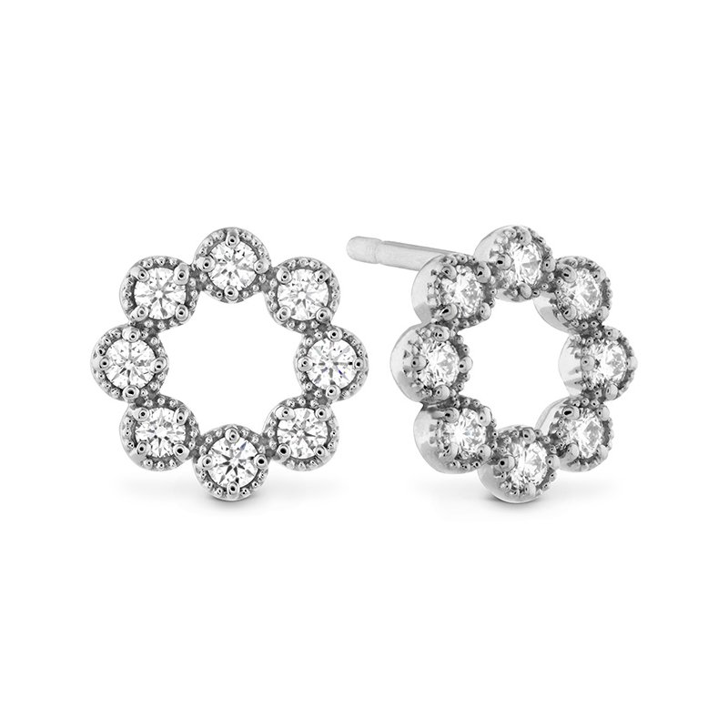 Hearts on Fire 0.32 ctw. Liliana Milgrain Diamond Circle Earrings