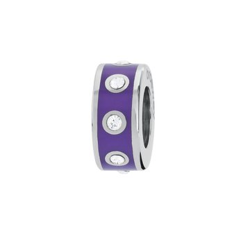 316L stainless steel, violet enamel and Swarovski® Elements crystals