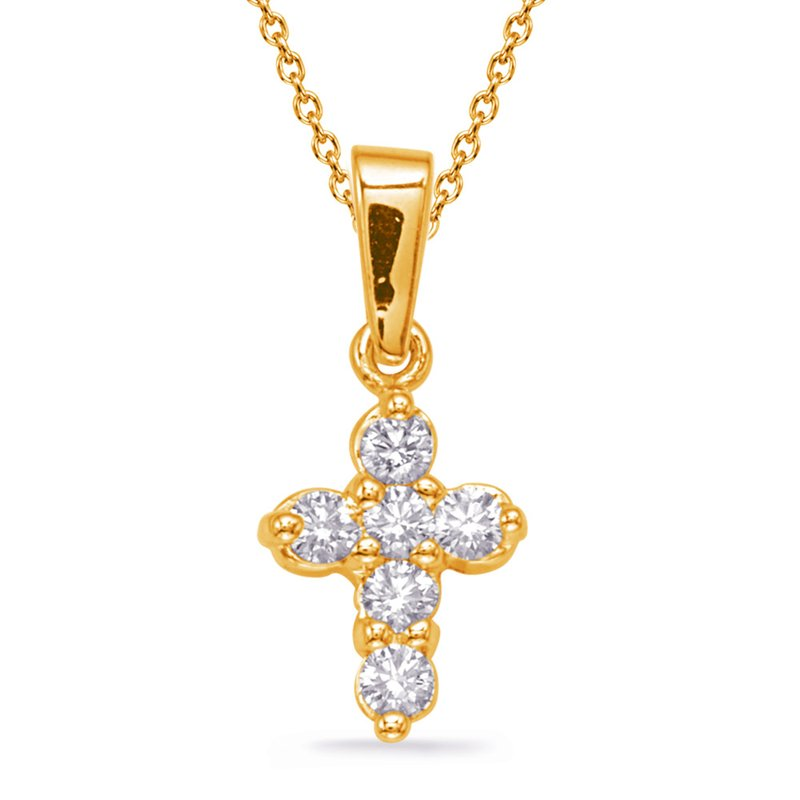 S. Kashi  & Sons Yellow Gold Diamond Cross