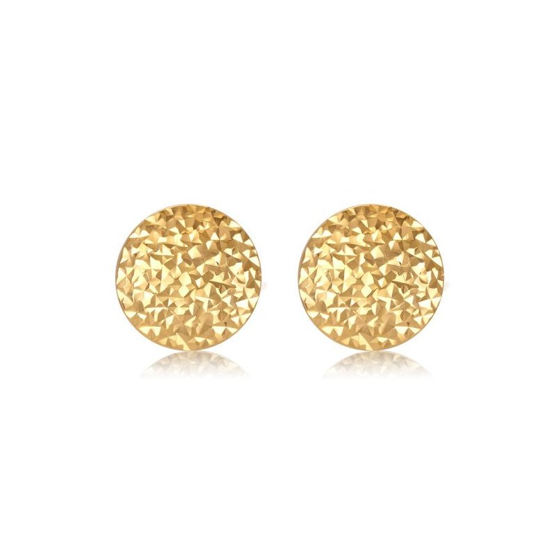 LARUS Jewelry Round Gold Earrings