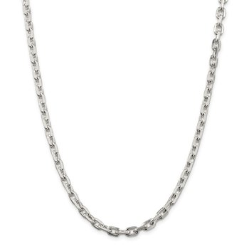 Sterling Silver 5.4mm Beveled Oval Cable Chain