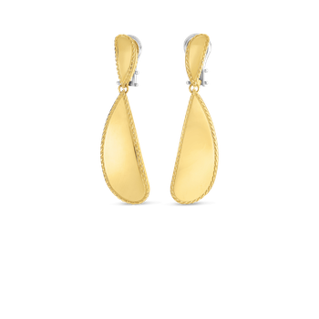 18Kt Gold Gourmette Drop Earrings