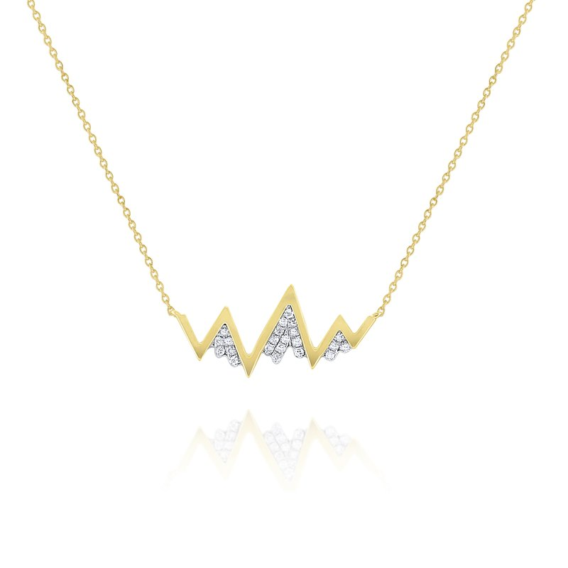 KC Designs Diamond Zig Zag Mountain Necklace Set in 14 Kt. Gold