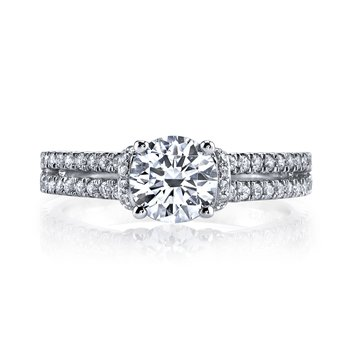 MARS 25038 Diamond Engagement Ring 0.41 Ctw.