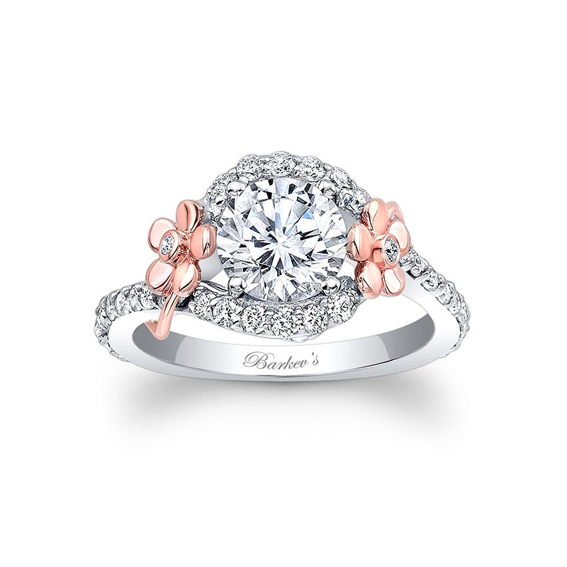 Barkev's Floral Engagement Ring