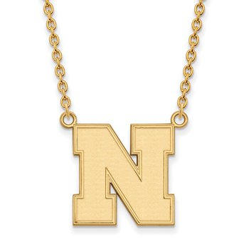 Gold University of Nebraska NCAA Necklace