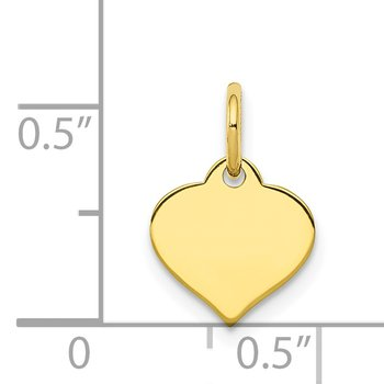 10k .018 Gauge Heart Disc Charm