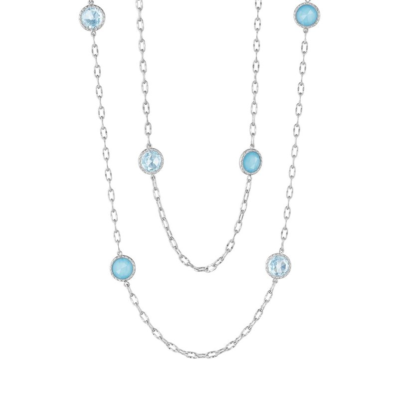 "Tacori Fashion 38"" Raindrops Necklace featuring Assorted Gemstones"