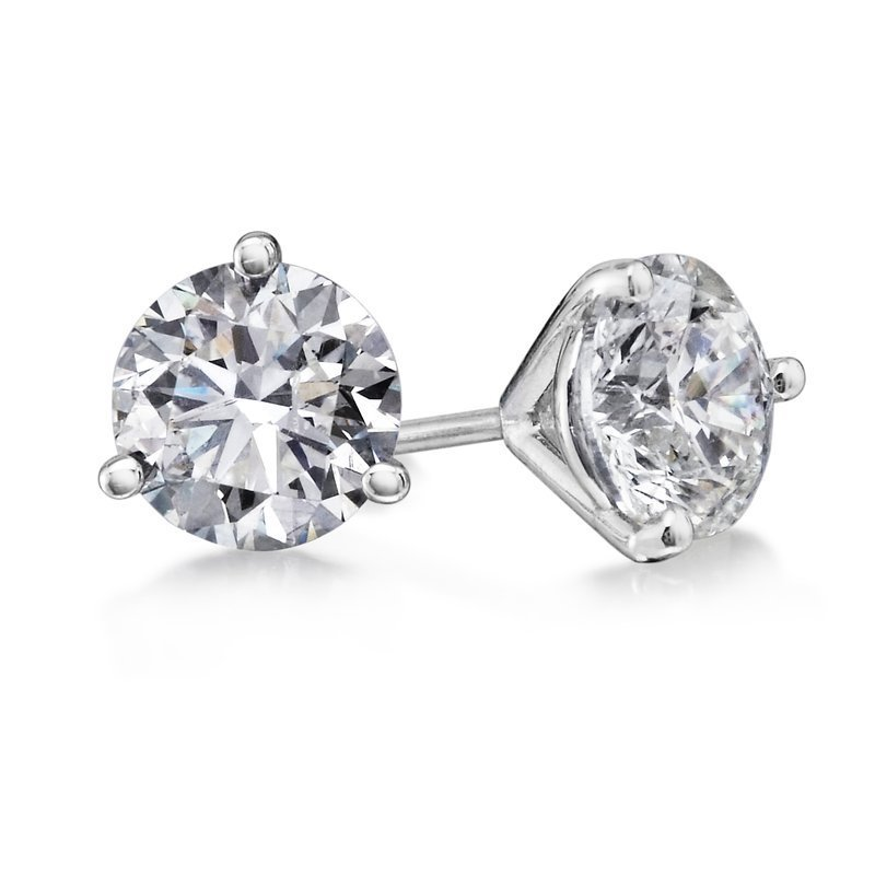 3 Prong 1 Ctw. Diamond Stud Earrings