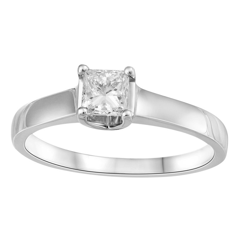 Fire and Ice Canadian Princess Cut Solitaire Engagement Ring