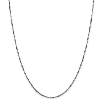 14k WG 1.5mm Semi-Solid Round Box Chain