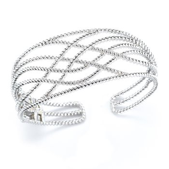 Sterling Silver Cable Bangle