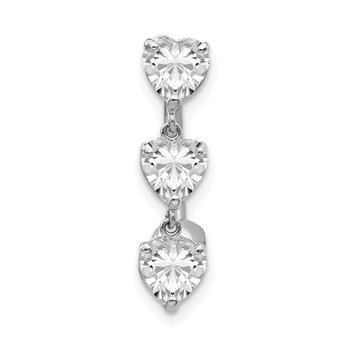 10k 5mm White Gold Heart Belly Dangle