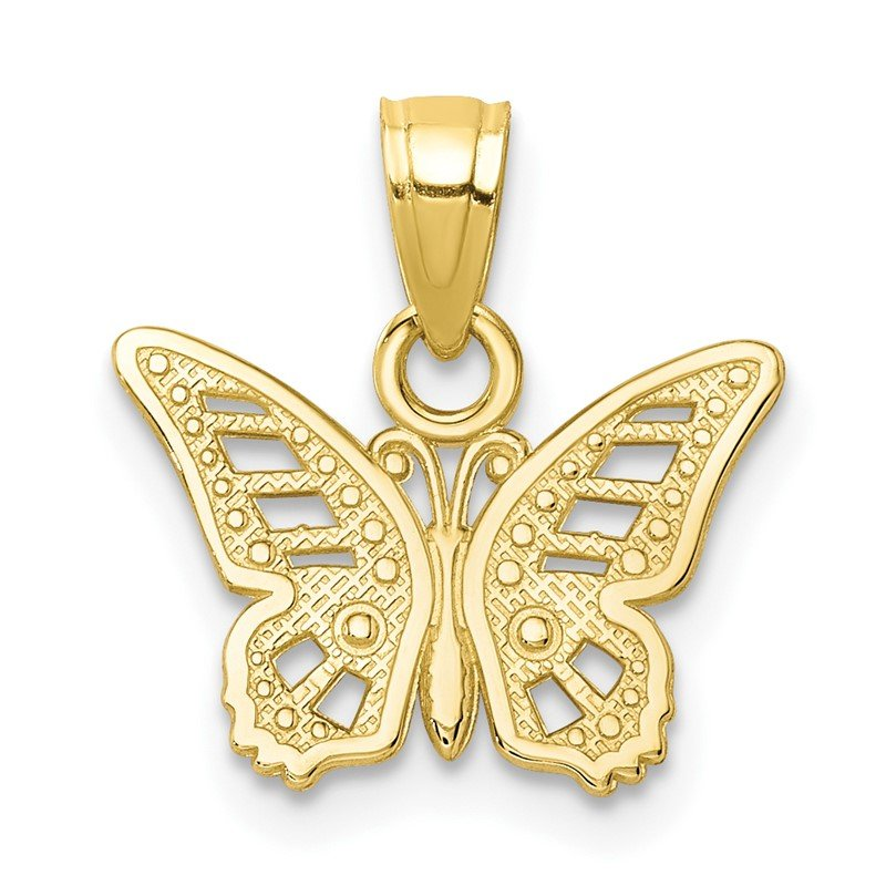 Quality Gold 10k Butterfly Charm