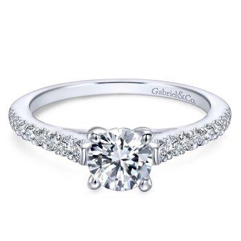 Pave Style Diamond Engagement Ring