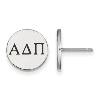 Sterling Silver Alpha Delta Pi Greek Life Earrings