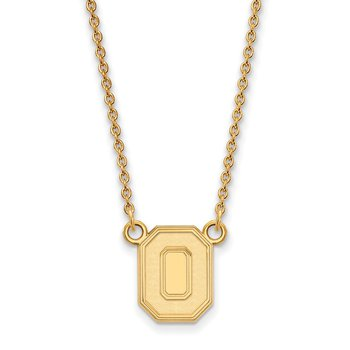 Gold Ohio State University NCAA Necklace