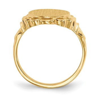 14k 14.0x10.5mm Open Back Signet Ring