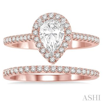 pear shape diamond wedding set