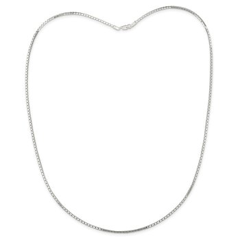 Sterling Silver 1.5mm Mirror Box Chain