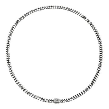 Classic Chain 7MM Curb Link Necklace in Silver
