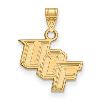 Gold-Plated Sterling Silver University of Central Florida NCAA Pendant