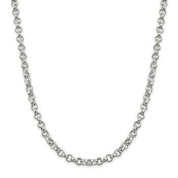 Sterling Silver 6.75mm Rolo Chain