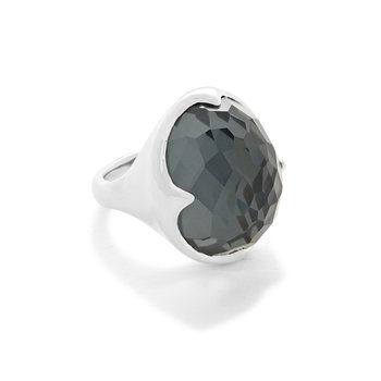 Ippolita sterling Rock Candy Prince ring in clear quartz and hematite. Available at our Halifax store.