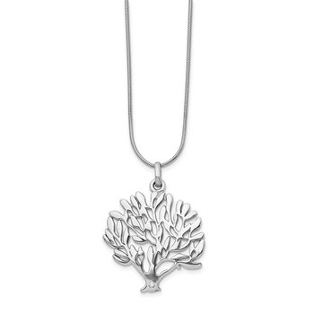 SS White Ice Diamond Tree Pendant Necklace