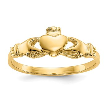 14k Claddagh Baby Ring