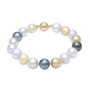 Cocktail South Sea & Tahitian Pearl Bracelet