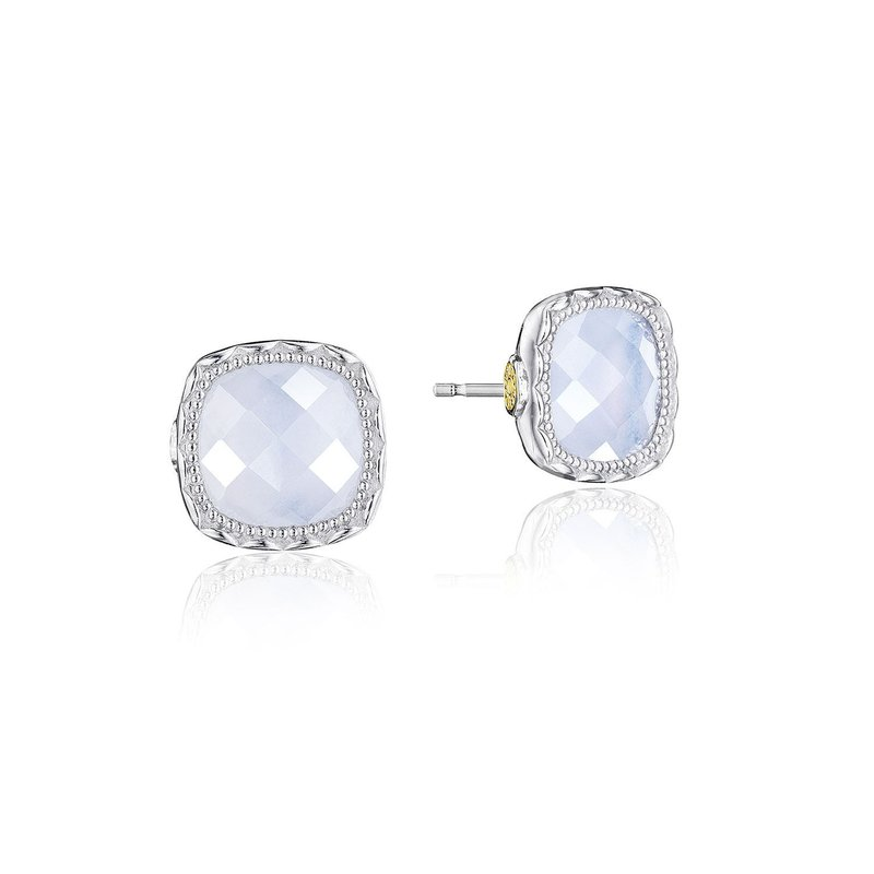 Tacori Fashion Cushion Gem Earrings with Chalcedony