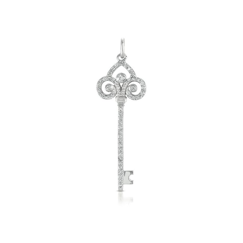 S. Kashi  & Sons White Gold Key Charm 47mm