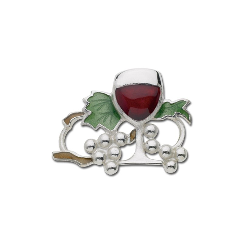 Lestage Sterling Silver Wine & Grapes
