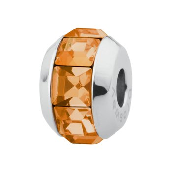 316L stainless steel and tangerine Swarovski® Elements