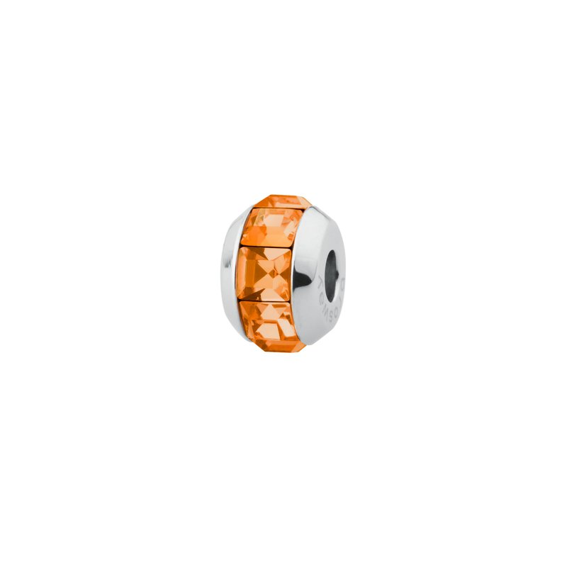 Brosway 316L stainless steel and tangerine Swarovski® Elements