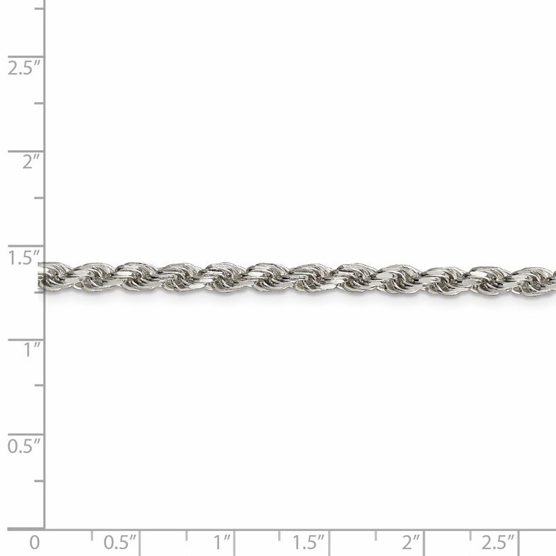 Quality Gold Sterling Silver 3.5mm Diamond-cut Rope Chain