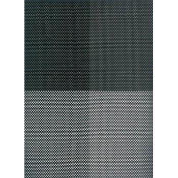 Table mat, black four sectors