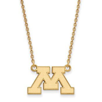 Gold-Plated Sterling Silver University of Minnesota NCAA Necklace