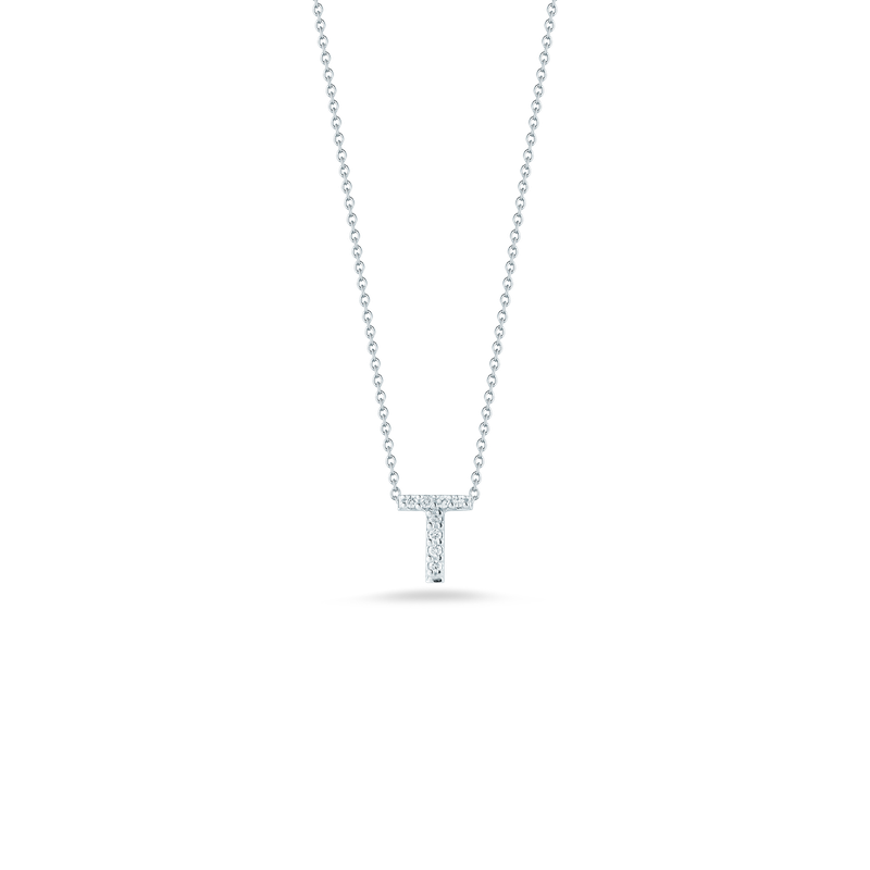 Roberto Coin Love Letter T Pendant With Diamonds