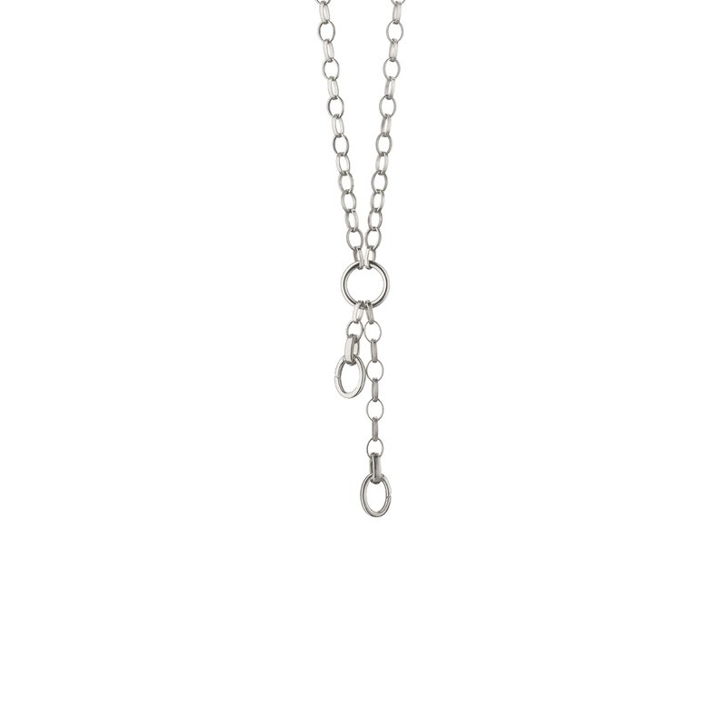 "Monica Rich-Kosann 34"" ""Design Your Own"" Large Link Charm Chain Necklace, 2 Charm Stations"