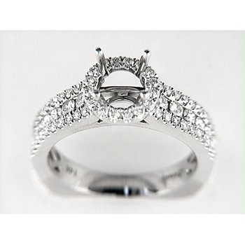 14K W RING 68RD 0.84CT EURO-SHANK