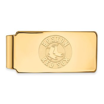 Gold-Plated Sterling Silver Boston Red Sox MLB Money Clip