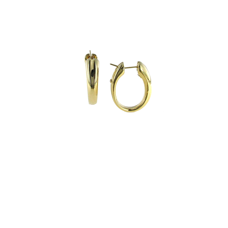 Roberto Coin 18Kt Gold Tapered Oval Hoops