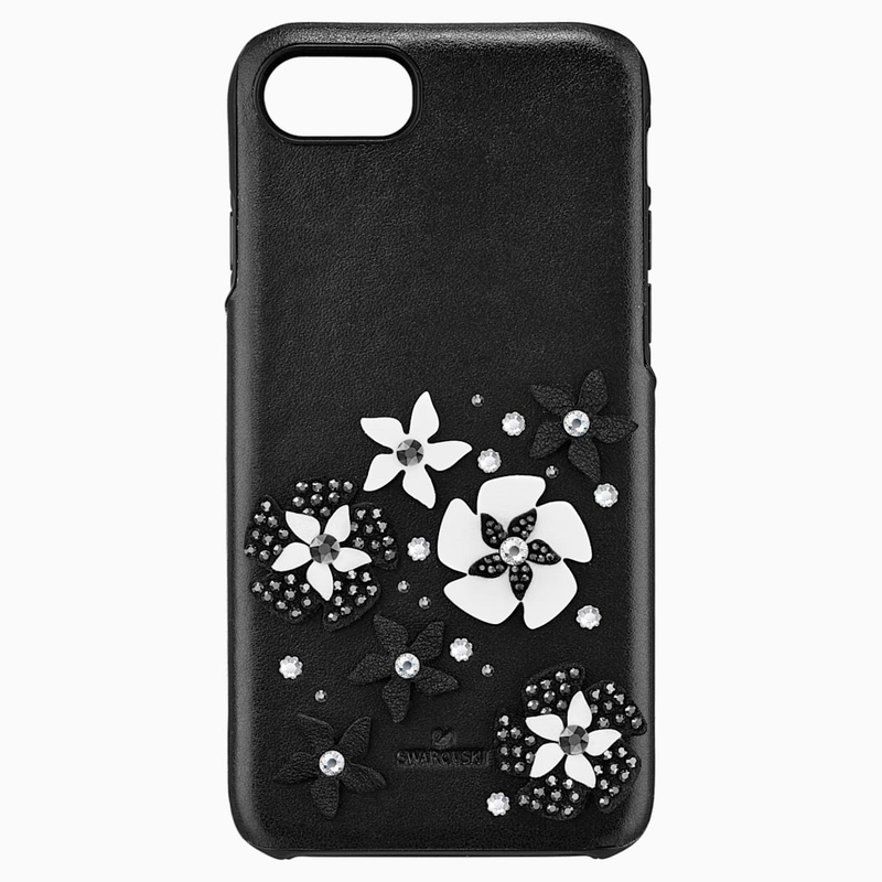 Swarovski Mazy Smartphone Case with integrated Bumper, iPhone® 8, Black
